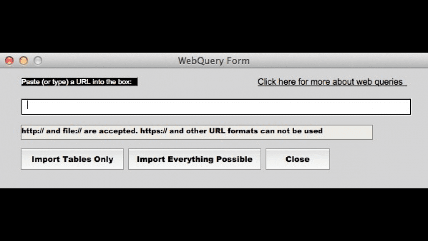 Instant WebQuery for Mac - review, screenshots