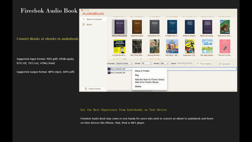 Audio Book for Mac - review, screenshots