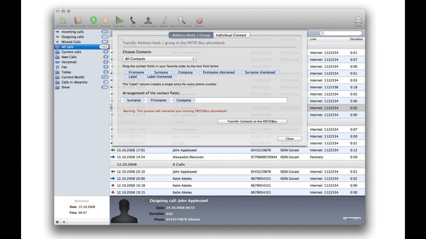 Dial!List for Mac - review, screenshots