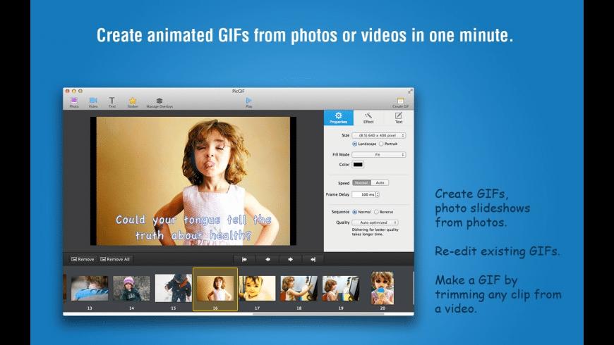 PicGIF for Mac - review, screenshots