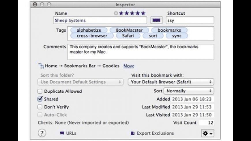 BookMacster for Mac - review, screenshots