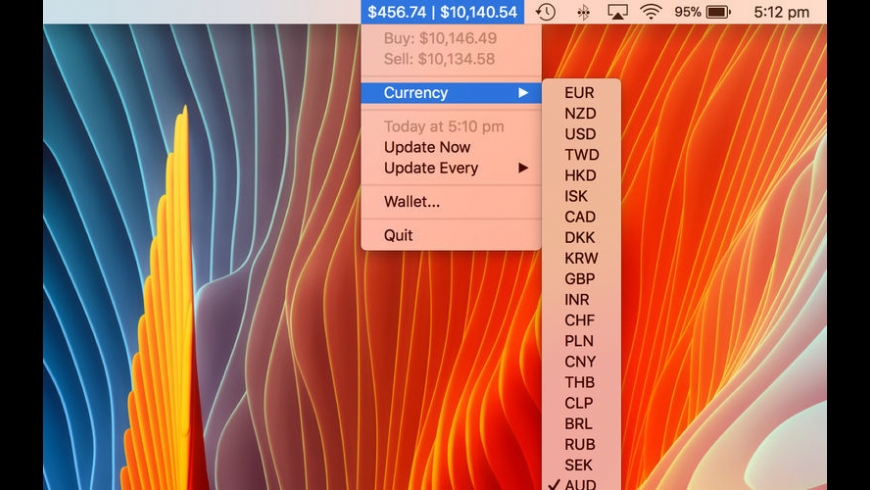 Bitcoin Bar for Mac - review, screenshots