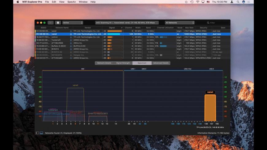 WiFi Explorer Pro for Mac - review, screenshots
