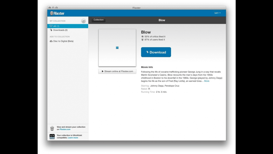 Flixster for Mac - review, screenshots