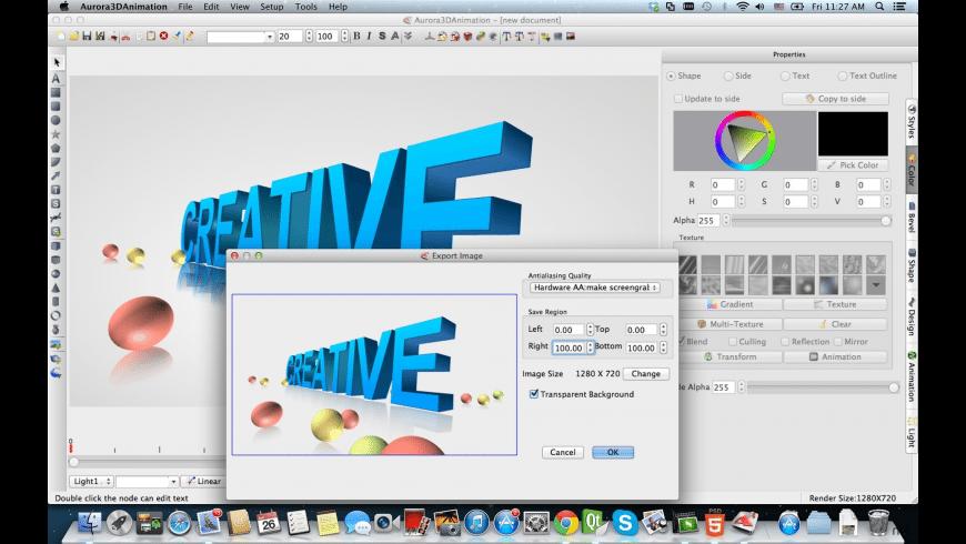 Aurora 3D Animation Maker for Mac - review, screenshots