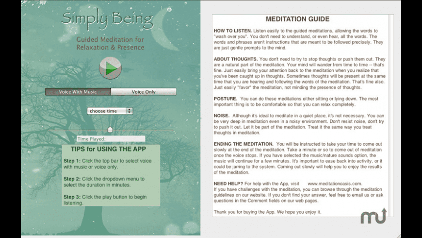 Simply Being for Mac - review, screenshots