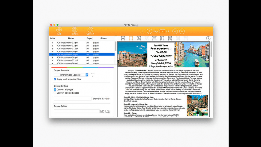 PDF to Pages Converter for Mac - review, screenshots