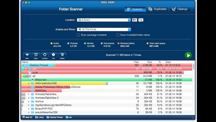 Disk Xray Lite for Mac - review, screenshots