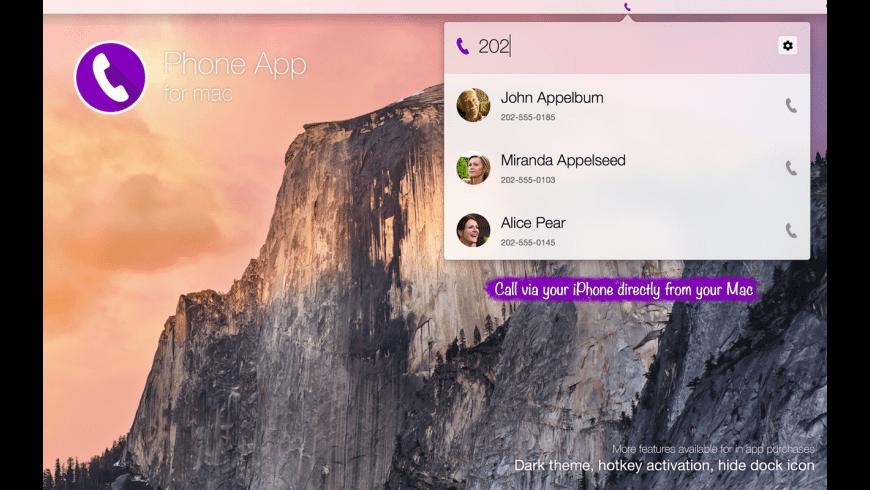 Phone App for Mac - review, screenshots