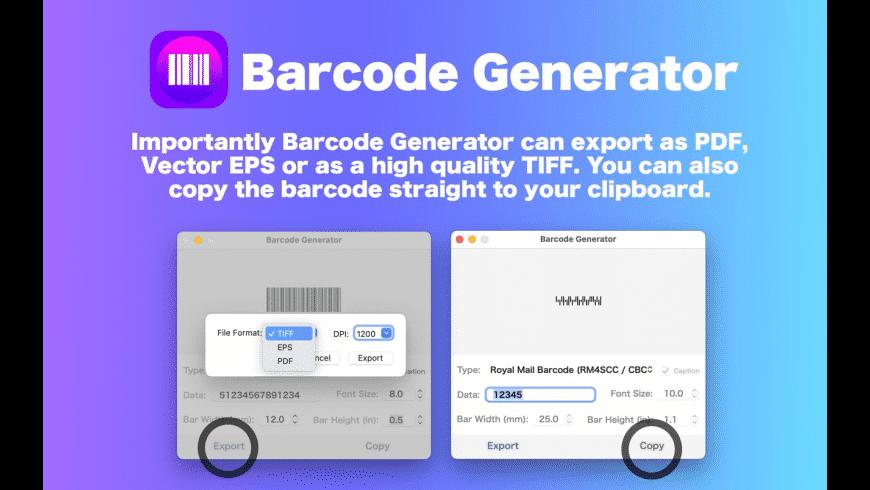 Barcode Generator / Creator for Mac - review, screenshots