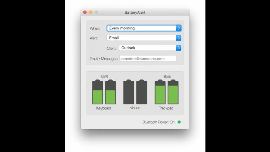 BatteryAlert for Mac - review, screenshots