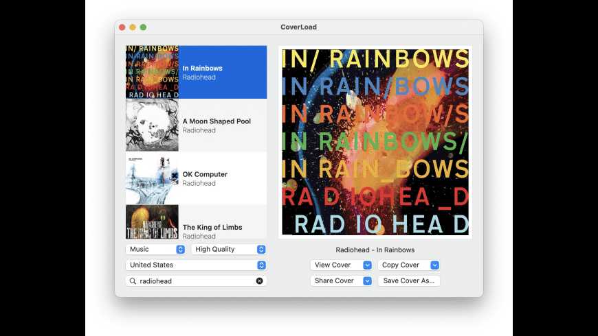 CoverLoad for Mac - review, screenshots