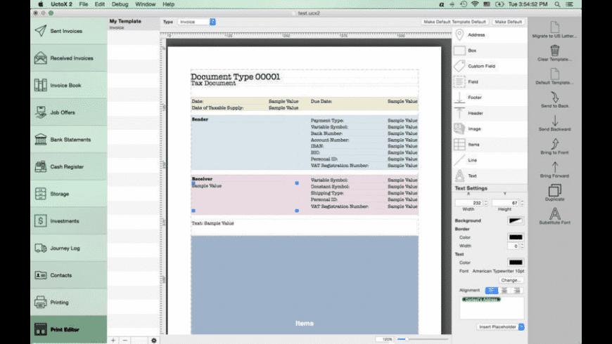 UctoX for Mac - review, screenshots