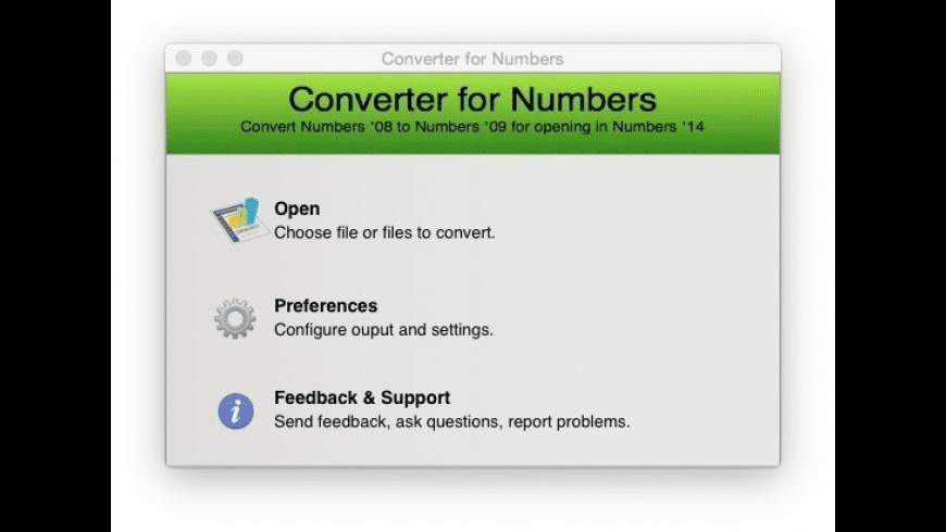 Converter for Numbers for Mac - review, screenshots