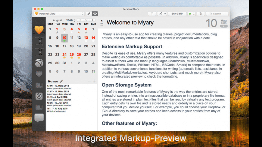 Myary for Mac - review, screenshots