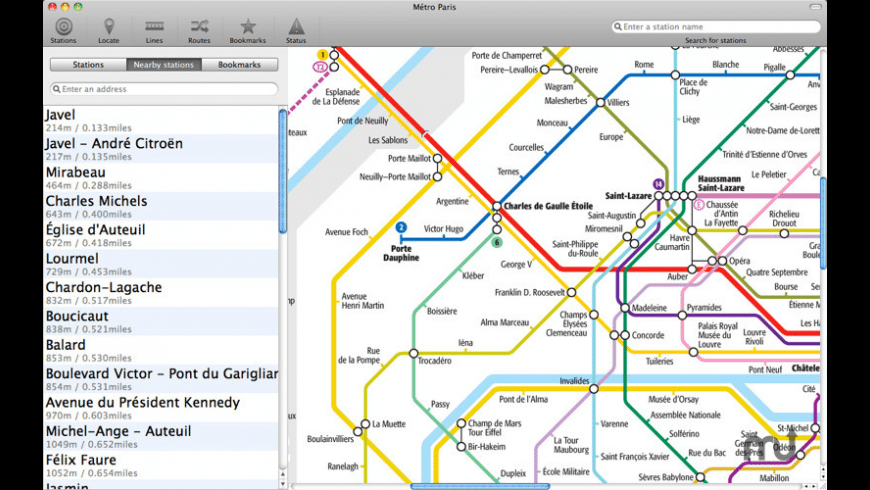 Paris Metro for Mac - review, screenshots