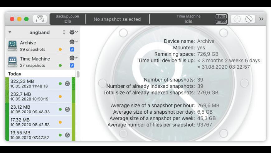 BackupLoupe for Mac - review, screenshots