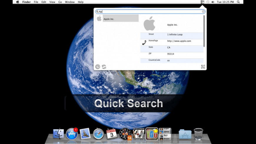 Contact Bar for Mac - review, screenshots