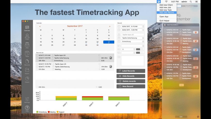 Taptile Timetracking 3 for Mac - review, screenshots