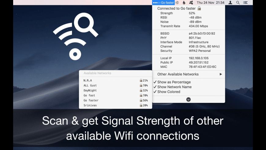 WiFi Signal Strength Explorer for Mac - review, screenshots