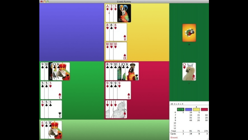 Growly Rummy for Mac - review, screenshots