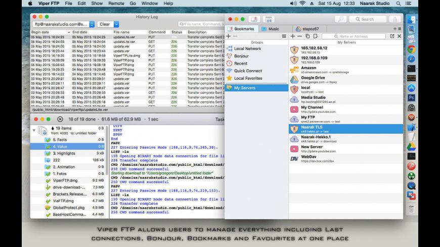 Viper FTP Lite for Mac - review, screenshots