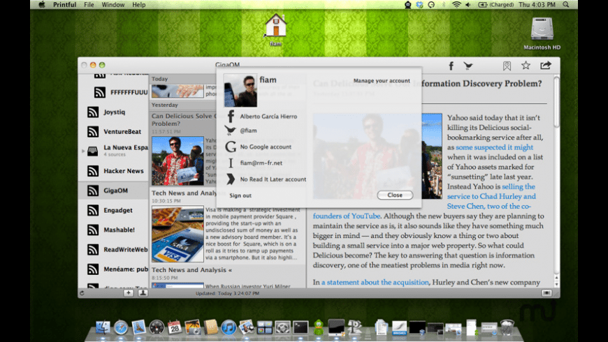 Printful for Mac - review, screenshots