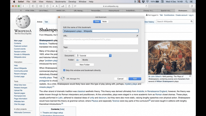URL Manager Pro for Mac - review, screenshots