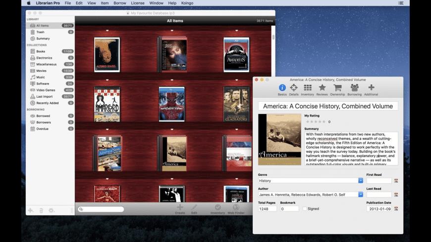 Librarian Pro for Mac - review, screenshots