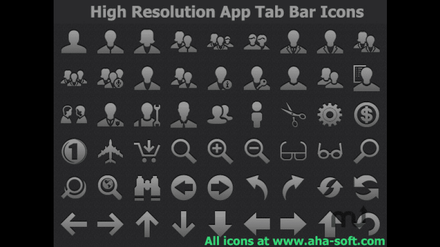 High Resolution App Tab Bar Icons for Mac - review, screenshots