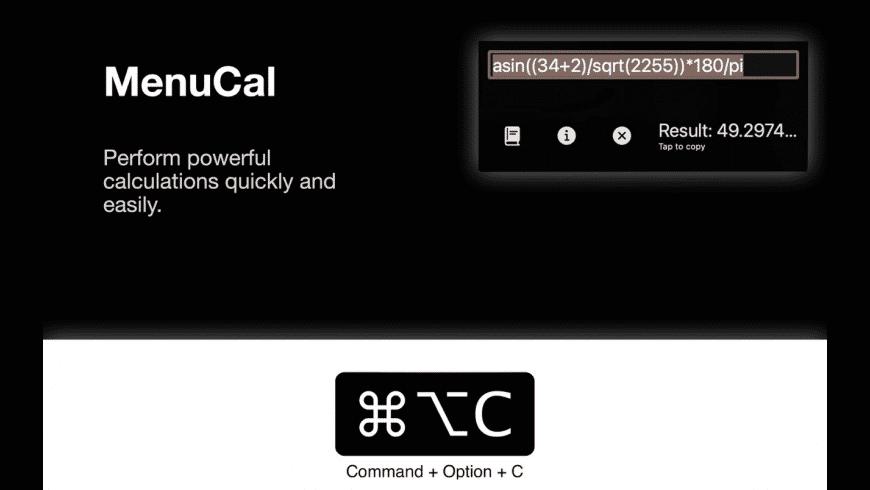 MenuCal for Mac - review, screenshots
