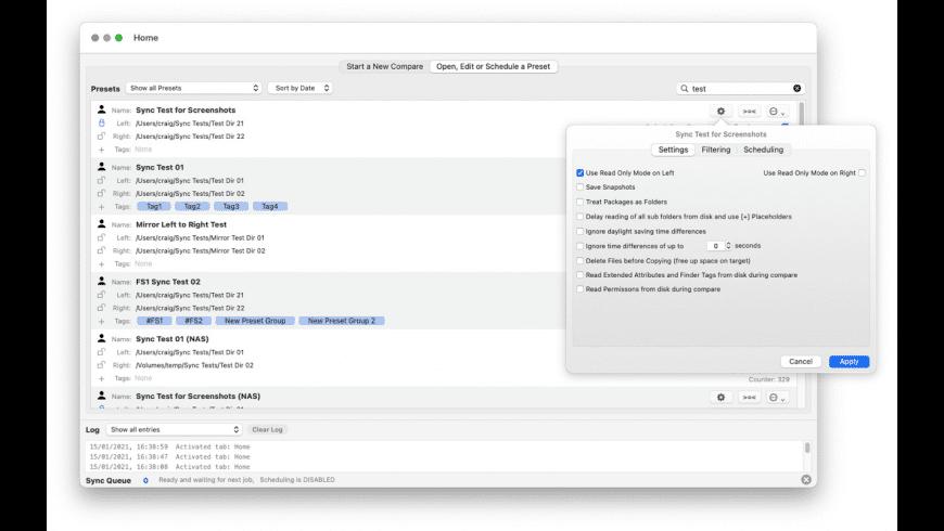 Folder Sync for Mac - review, screenshots
