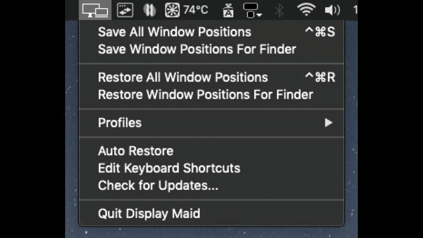 Display Maid for Mac - review, screenshots