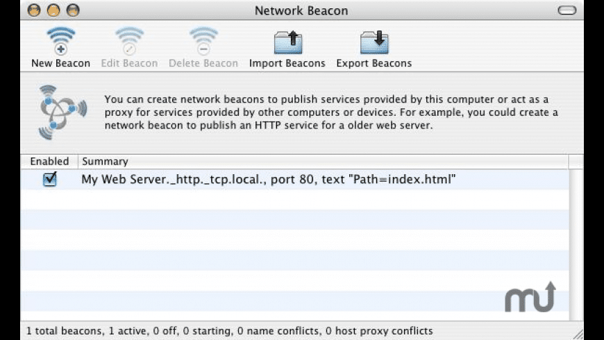 Network Beacon for Mac - review, screenshots
