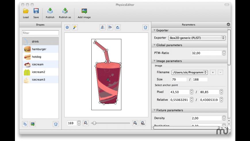 PhysicsEditor for Mac - review, screenshots