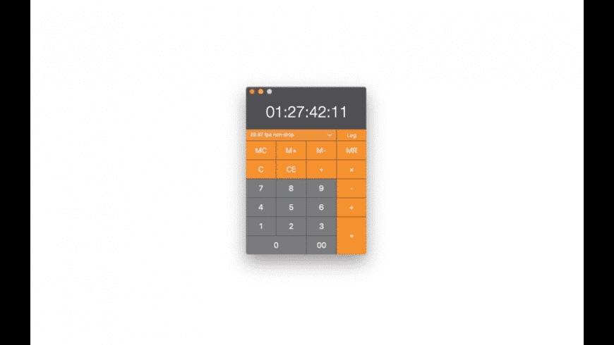 Timecode Calculator for Mac - review, screenshots