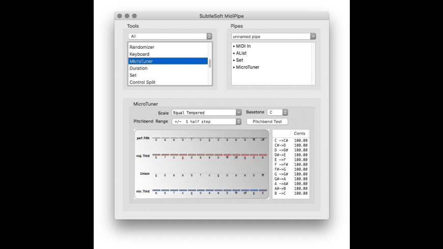 MidiPipe for Mac - review, screenshots