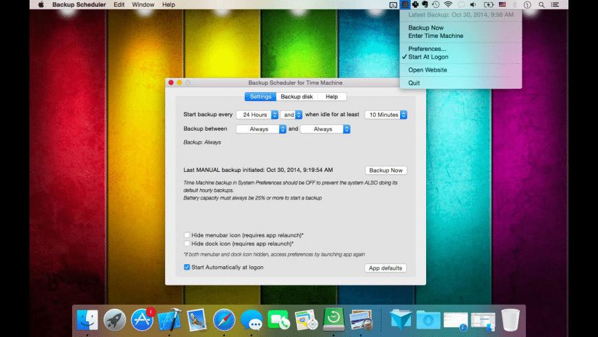 Backup Scheduler for Mac - review, screenshots
