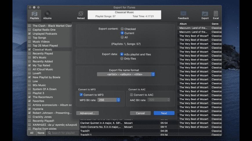 Export for iTunes for Mac - review, screenshots