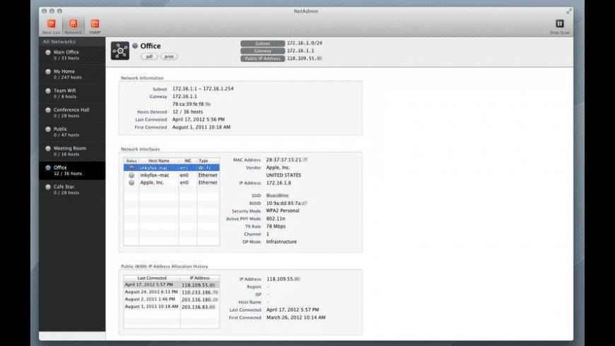 NetAdmin for Mac - review, screenshots