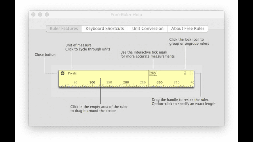 Free Ruler for Mac - review, screenshots