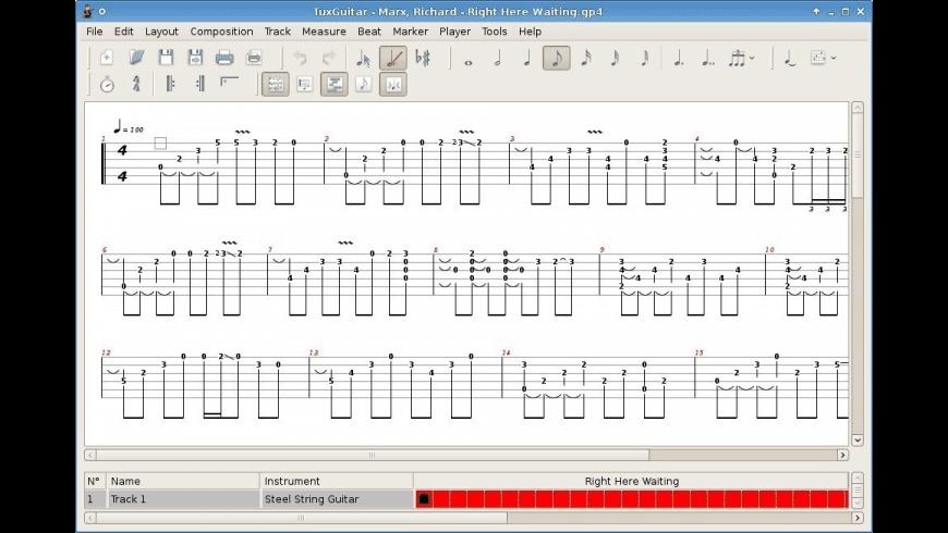 Tux Guitar for Mac - review, screenshots
