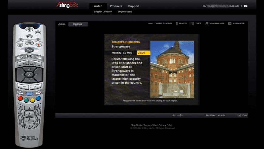 SlingPlayer Plugin for Mac - review, screenshots