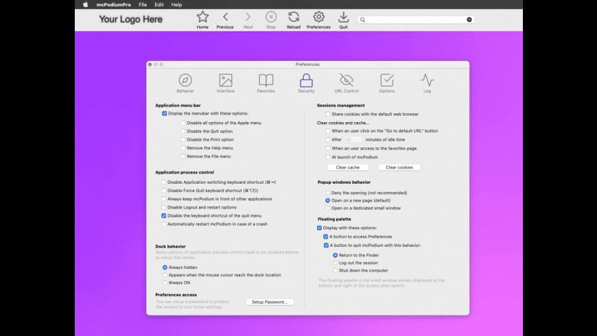 mcPodium for Mac - review, screenshots