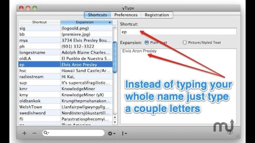 yType for Mac - review, screenshots