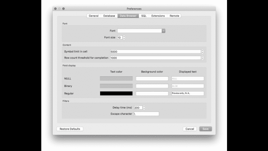 DB Browser for SQLite for Mac - review, screenshots