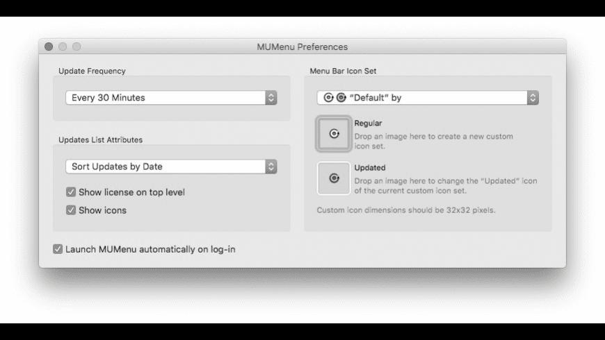 MUMenu for Mac - review, screenshots