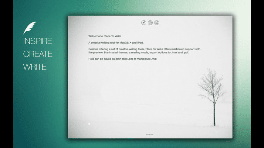 Place To Write for Mac - review, screenshots