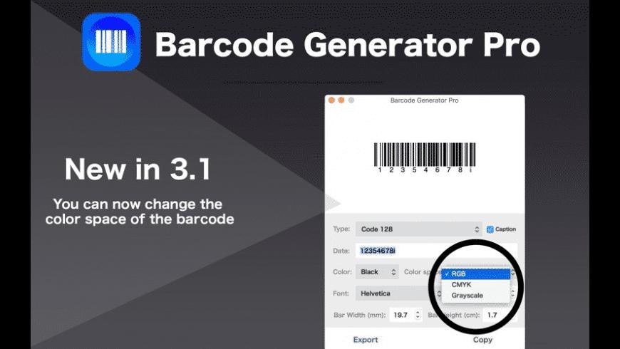 Barcode Generator Pro for Mac - review, screenshots
