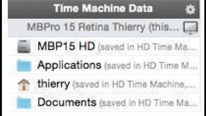 Back-In-Time for Mac - review, screenshots